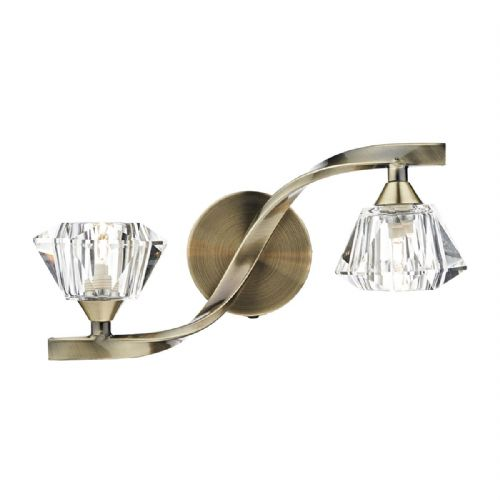 Ancona Double Wall Bracket Antique Brass (Class 2 Double Insulated) BXANC0975-17